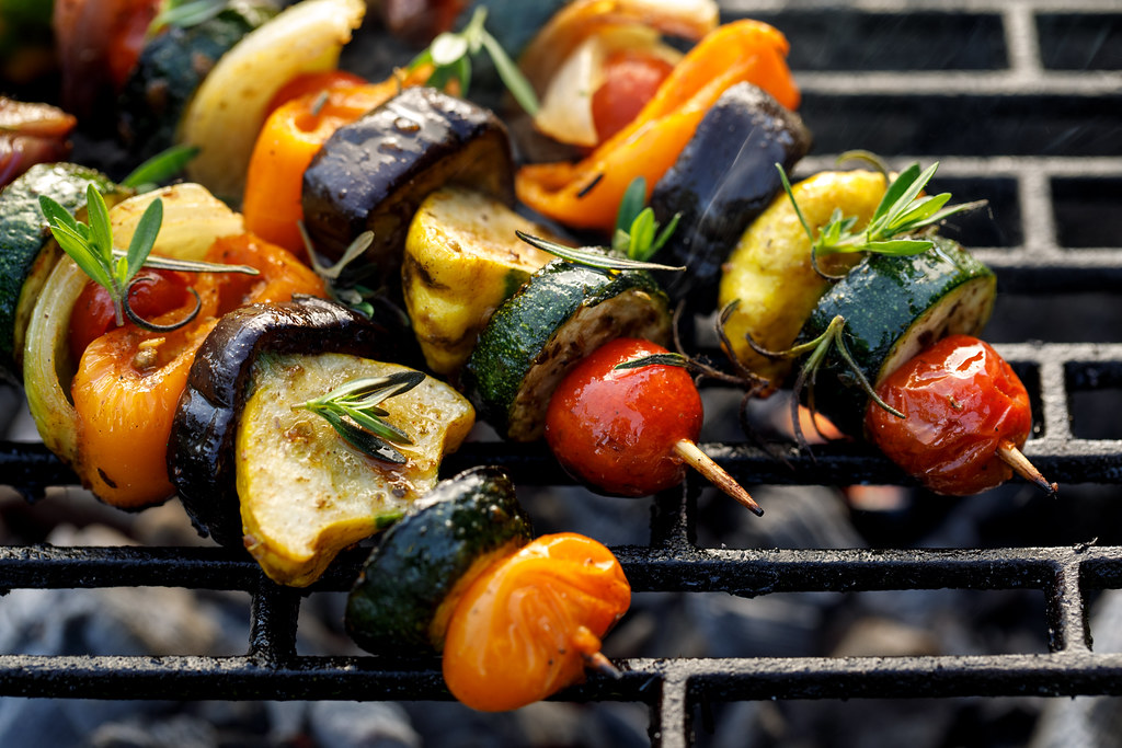 kabob grilled veggies