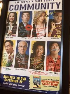 autographed 'Community' poster