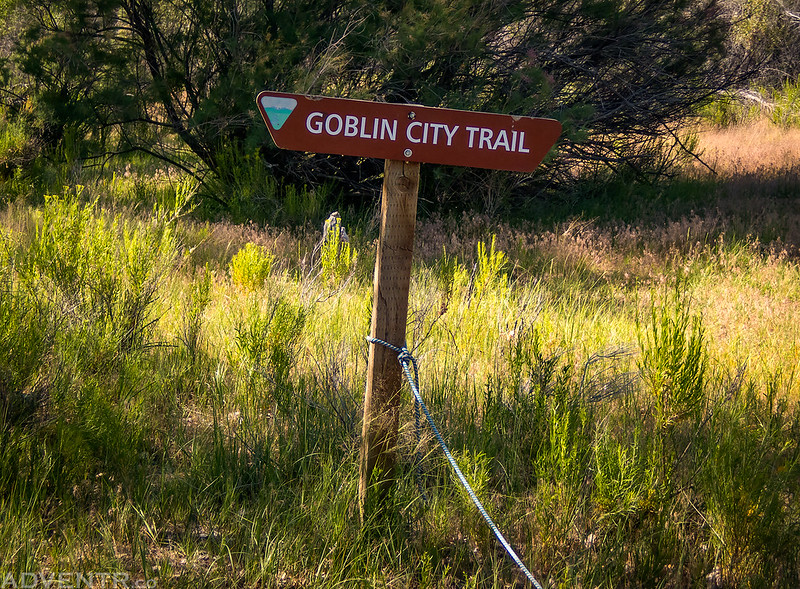 Goblin City Trail Sign