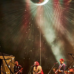 Fri, 28/06/2019 - 9:36pm - Wilco's Solid Sound Festival at Mass MoCA, fan karaoke set on 6/28/19, broadcast live on WFUV. Photo by Gus Philippas/WFUV.
