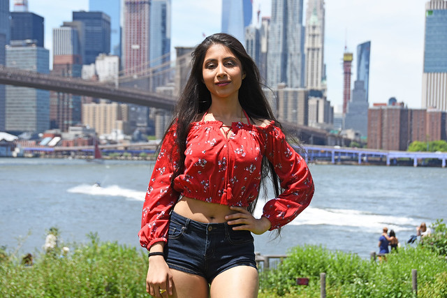 Picture Of Shivani Taken During A Photo Shoot At Brooklyn Bridge Park In Brooklyn New York. Photo Taken Sunday June 9, 2019
