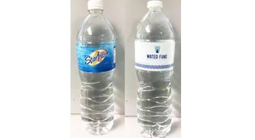Starfresh and Waterfuns brands bottled water