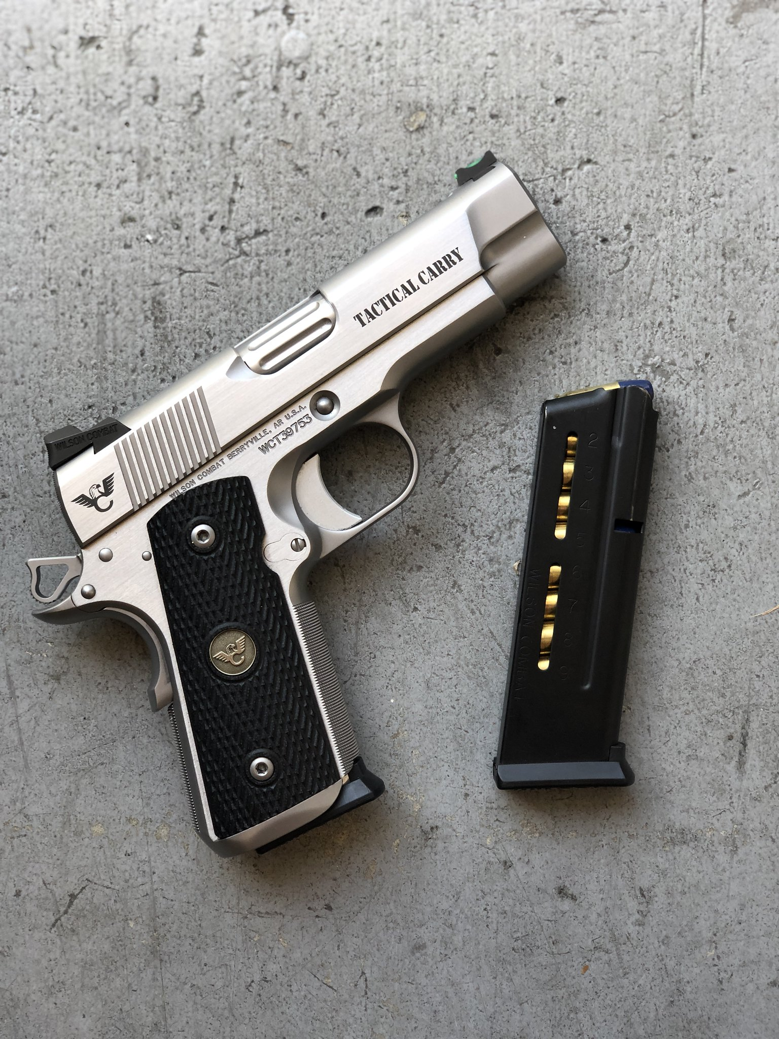 Stainless 9mm compact