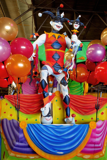 Park West Gallery 2019, June in NOLA, Mardi Gras World, float decorations 2