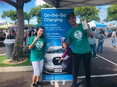 Hawaiian Electric at the Kapolei Sustainability Fair — June 29, 2019: Attendees who visited our booth got an opportunity to learn about electric vehicles and where to charge them.