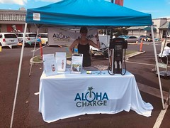 Hawaiian Electric at the Kapolei Sustainability Fair — June 29, 2019: Aloha Charge shared their innovative charging solutions they offer to local businesses.