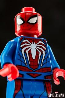 大人氣電玩的原創蜘蛛裝樂高化~! LEGO《漫威蜘蛛人》蜘蛛人 高級戰衣 Spider-Man Advanced Suit Minifigure【2019 SDCC 限定】