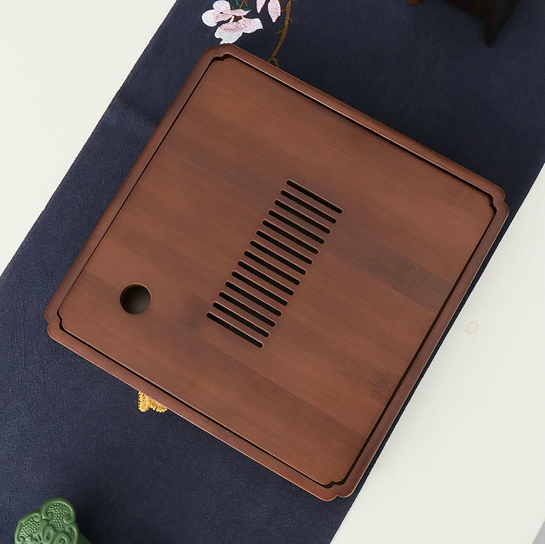 Bamboo Tea Tray with Water Tank, 3 Variations on Size