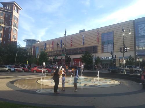 Splash fountain in Columbia Heights, DC