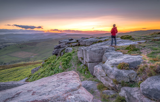 View from Higger Tor, Stanage Edge Upper right.
