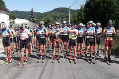 Závody na kolečkových lyžích v Beskydech