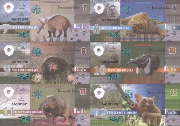 Pacific 7-8-9-10-11-12 dolárov 2016