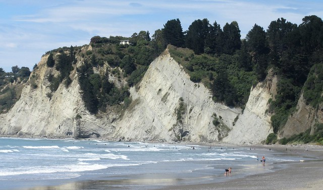 New Zealand South Island - Gore Bay Cliffs & Beach