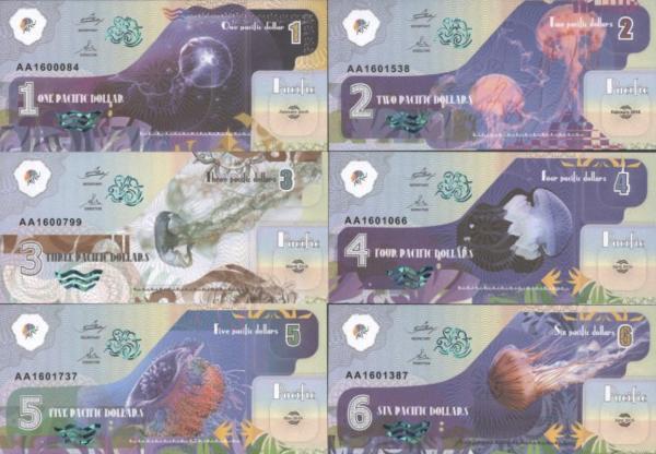 Pacific 1-2-3-4-5-6 dolárov 2016