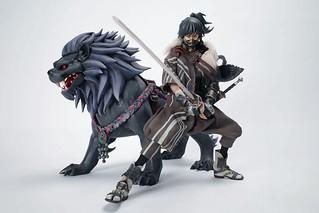 用劍貫徹自己信念的犬族戰士! Ax2 Limited《犬與猿》黑衣劍士劍吾(少年時期) & 獅子丸 INU & SARU - Kuro no Kenshi Kengo(youth edition) & Shishimaru 1/6 比例人偶作品