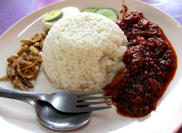 Bandong Walk nasi lemak sambal sotong