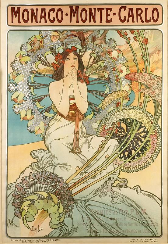 Alphonse Mucha, Monaco Monte Carlo, 1897