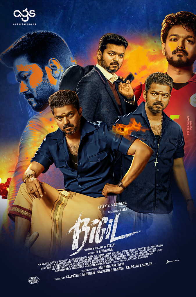 Bigil (2019) Tamil Movie Official Trailer – Joseph Vijay 720p HDRip
