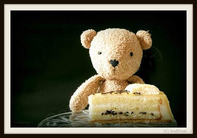 Findbear mit Marzipan-Torte / Alle Rechte vorbehalten © AndiDroid ;-)    ... HTBT