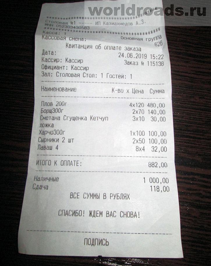 Cтоловые в Архипо-Осиповке цены