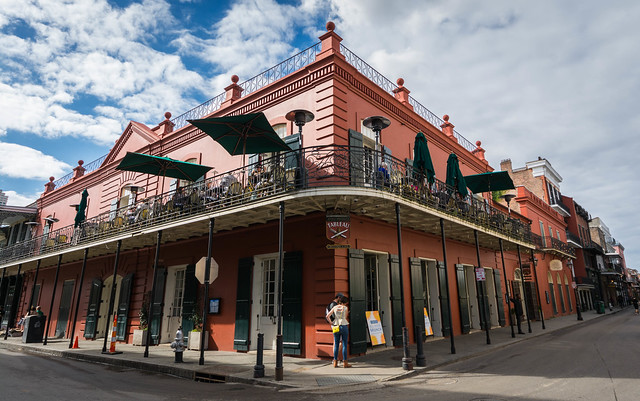 New Orleans, calle St Peter, Louisiana, USA
