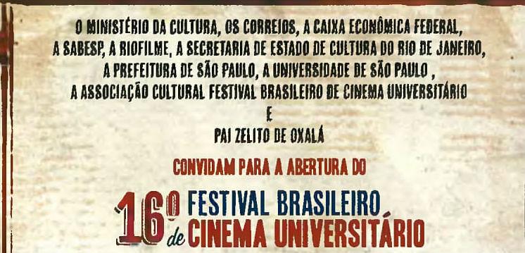 16° Festival Brasileiro de Cinema Universitário