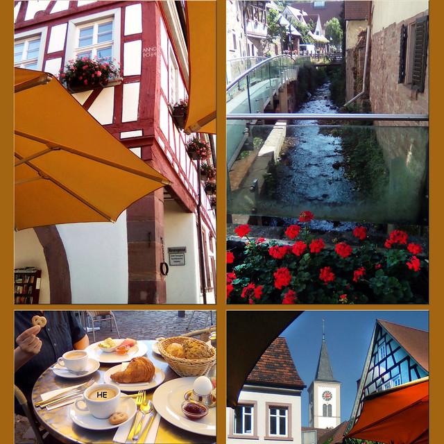 2. Juli 2019: Schriesheim an der badischen Bergstraße ... Altstadtbummel und Frühstück im Kaffeehaus ... Fotos: Harold Eisele