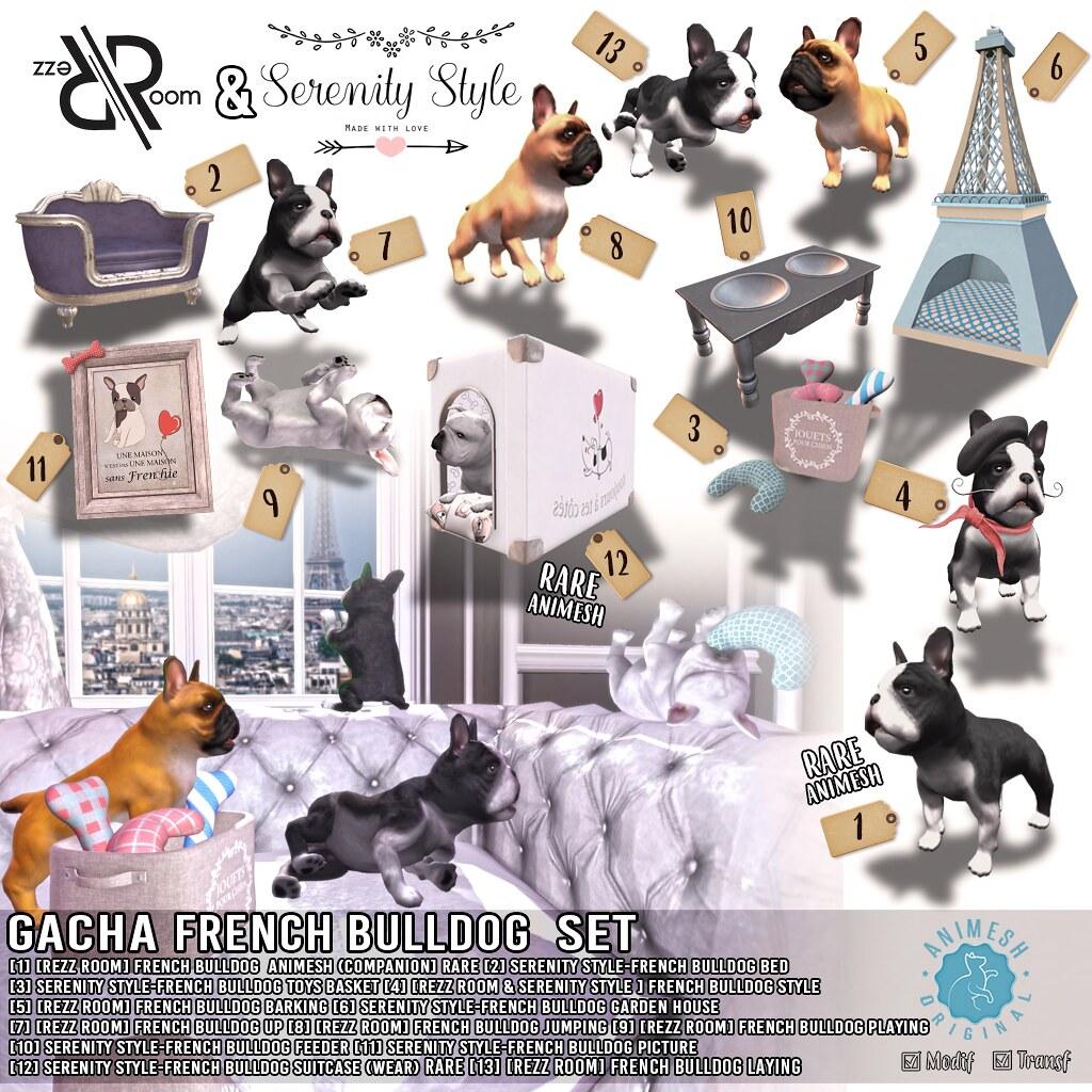 [Serenity Style & Rezz Room  ]  French Bulldog Gacha