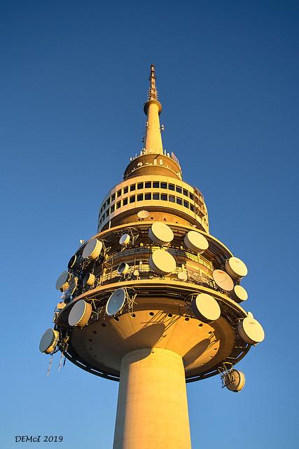 Telstra Tower, golden hour