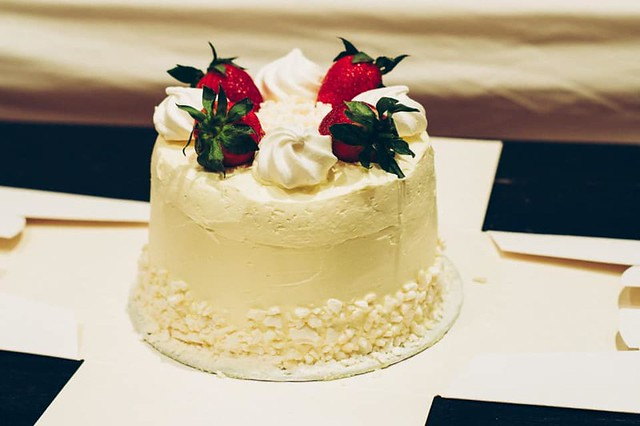 Strawberry and Cream Cake by Amy's Cakeness