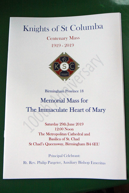 Knights of St Columba -  Centenary Mass