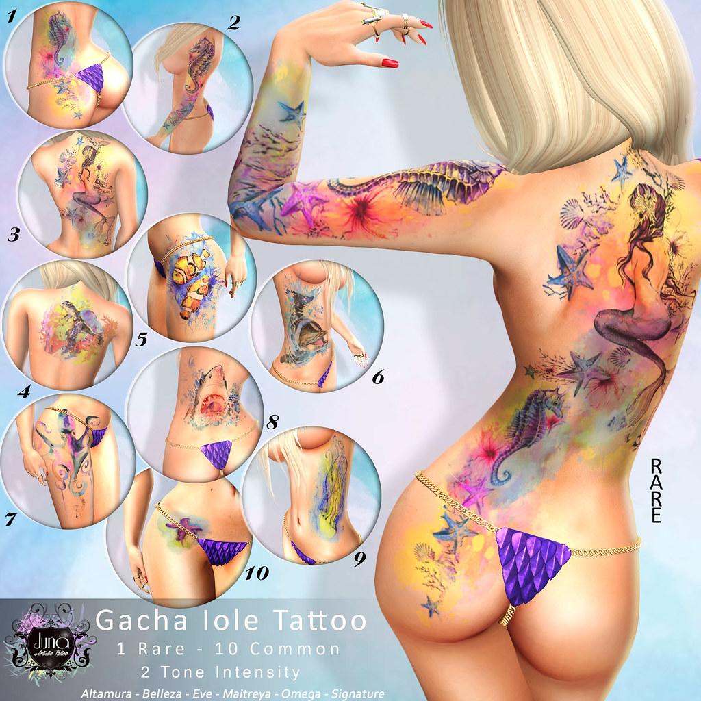 Gacha Iole tattoo - TeleportHub.com Live!
