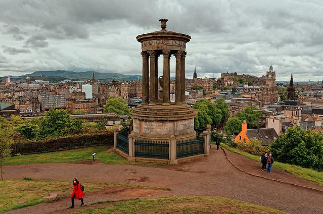 Edinburgh / Calton Hill /  Dugald Stewart Monument