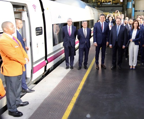 COMSA in the inauguration of the Madrid-Granada AVE (high-speed train) route