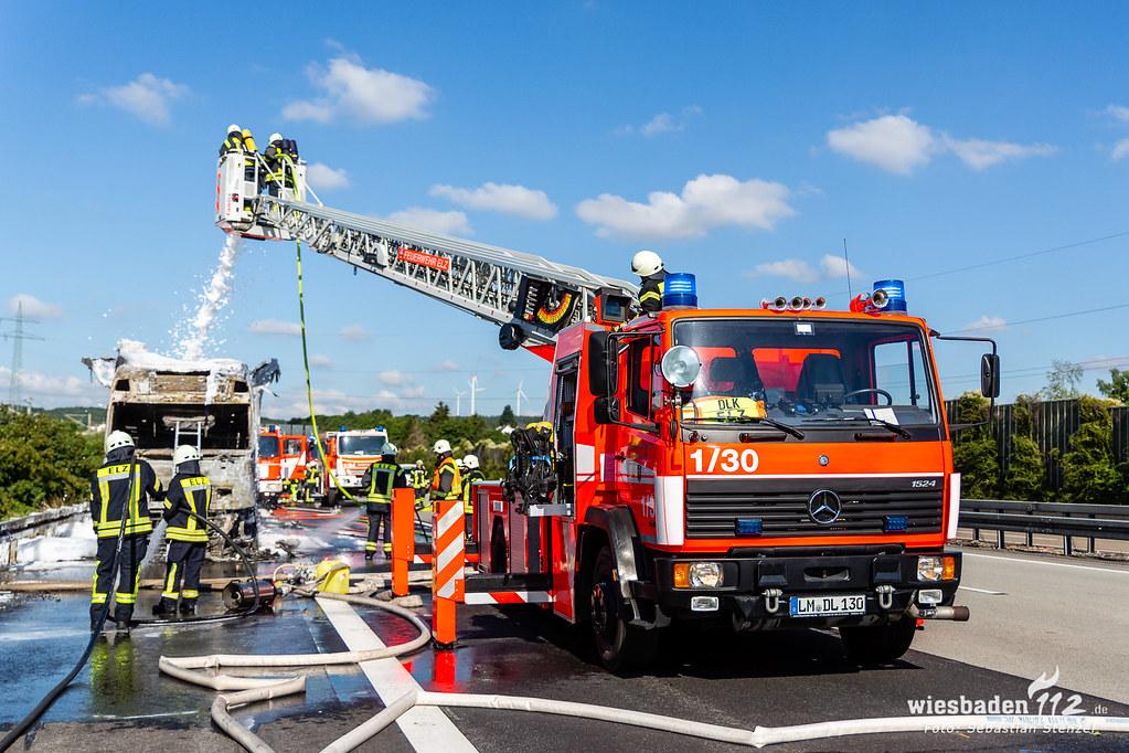 Lkw-Brand A3 Limburg/Elz 02.07.19