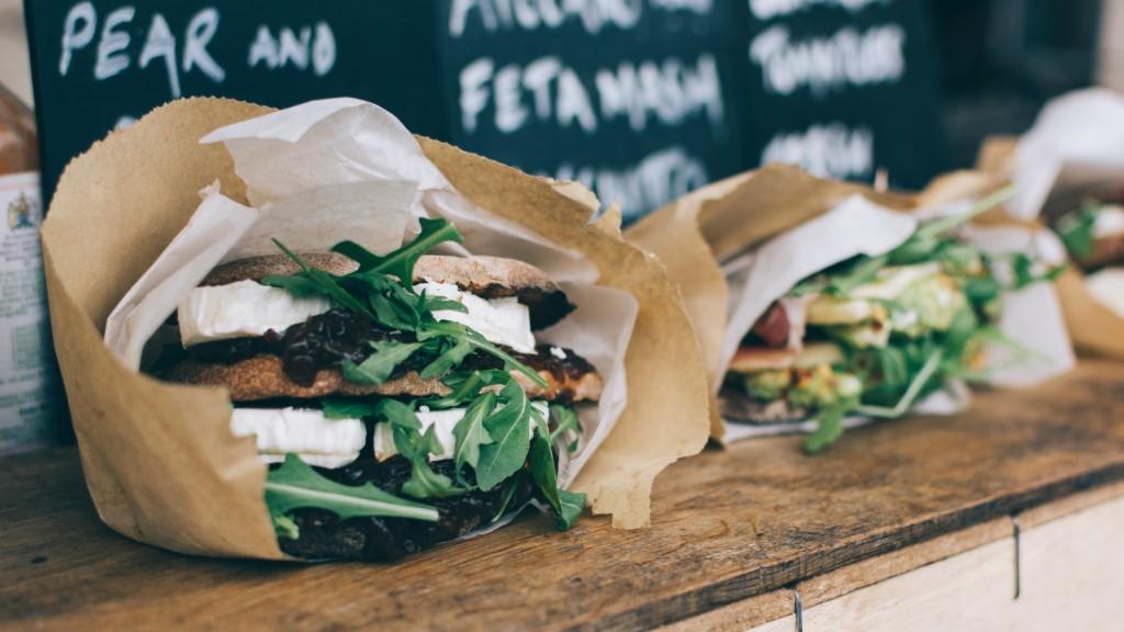 Sandwich wrapped in paper