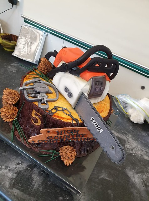Chain Saw Cake by Tracy Johnson of Tracy Johnson t-a Designer Cakes