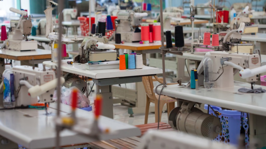 Inside a garment factory