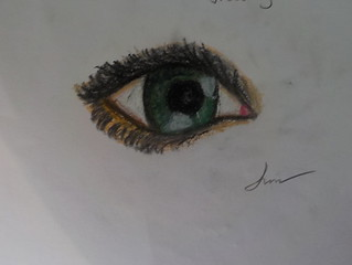 My first ever pastel drawing. Took about 30 min. to draw.
