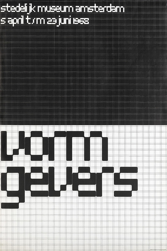 Wim Crouwel, poster for the Vormgevers exhibition, 1968.