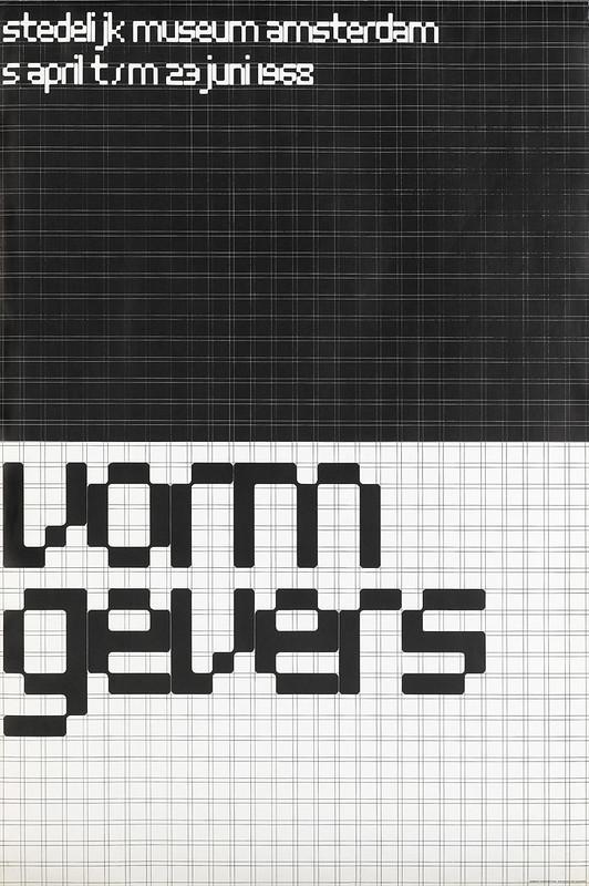 Wim Crouwel, poster for the Vormgevers exhibition, 1968.