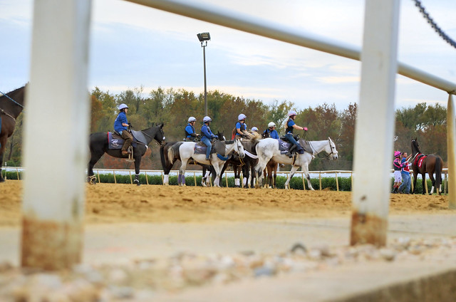 2018-11-02 (28) pony people as seen from the paddock area at Laurel Park