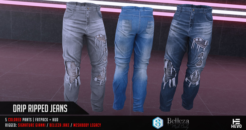 HEVO – Drip Ripped Jeans @ TMD JULY2019