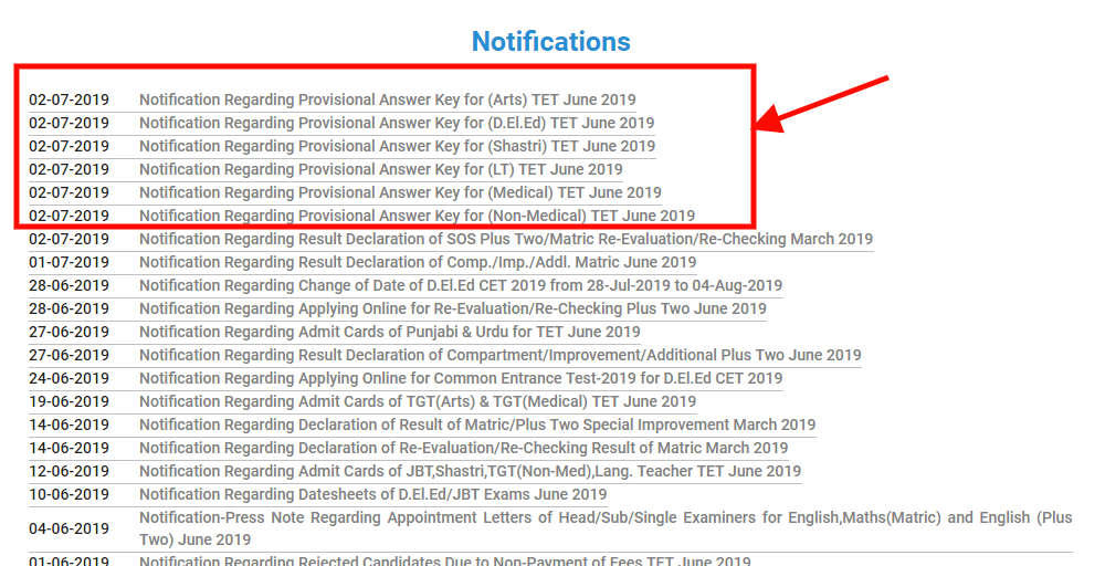 HP TET Answer Key 2019 (Released at hpbose org) - Check HP TET TGT