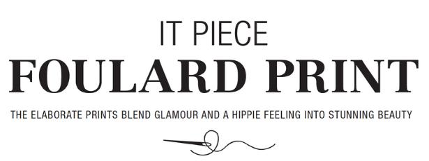 Foulard Print Trend TITLE