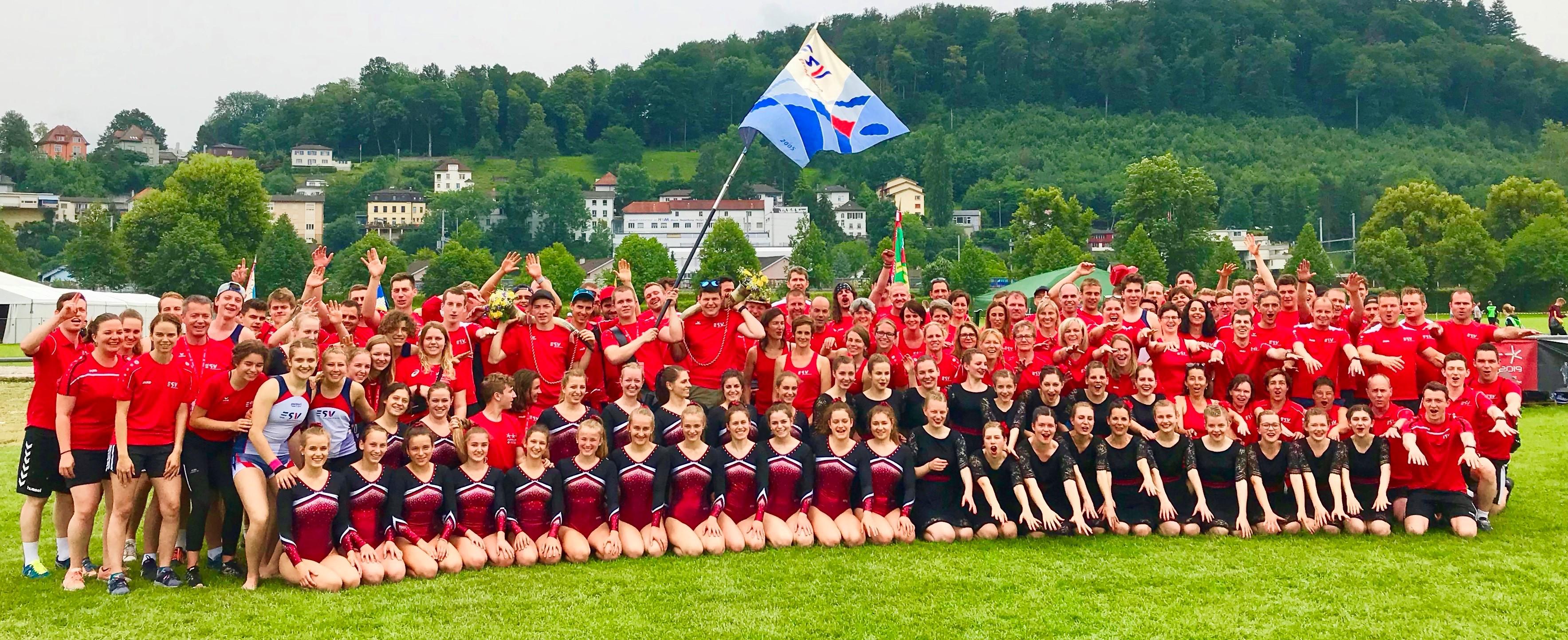 Zusammen turnen, feiern und geniessen –  Der ESV am ETF in Aarau, 13.06.-23.06.2019