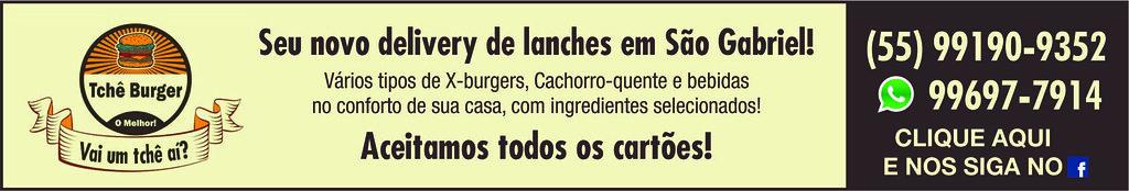 Tchê Burger - Vai um tchê aí? Seu novo delivery de lanches em São Gabriel