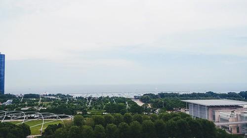 Chicago - Cindy's Overlooking Millenium Park