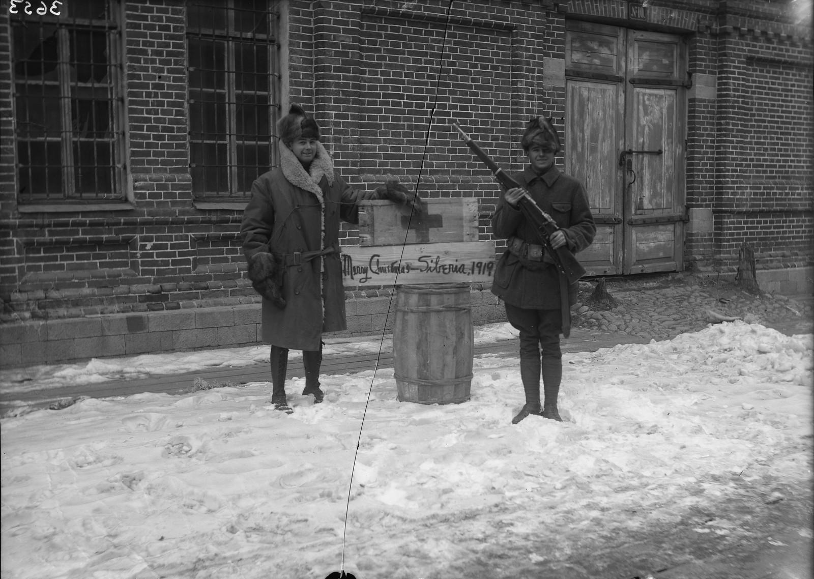 07. 1919. Владивосток. Американский Красный Крест. С Рождеством!
