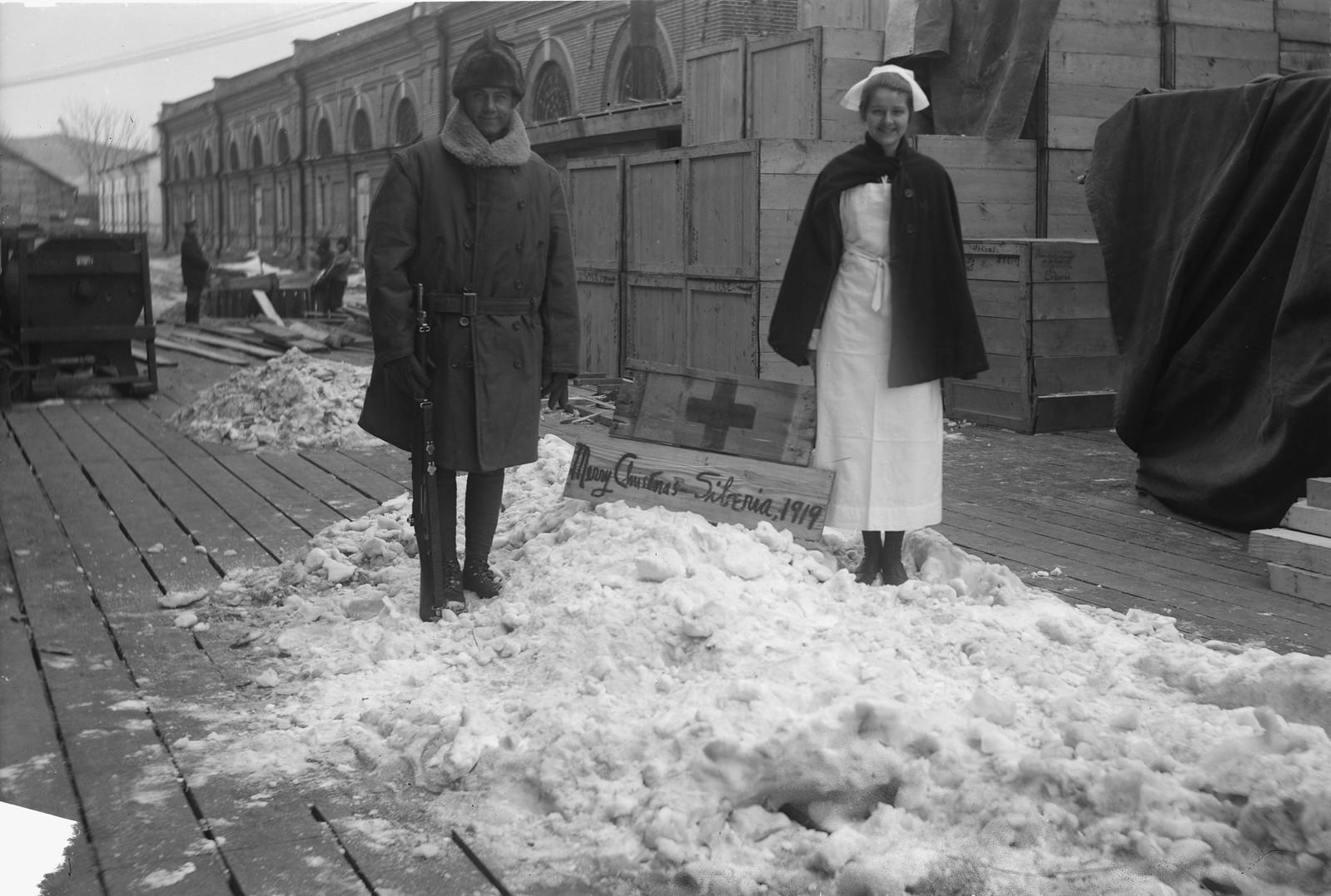 06. 1919. Владивосток. Американский Красный Крест. С Рождеством!